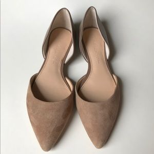 Banana Republic Alani D'Orsay suede leather flats